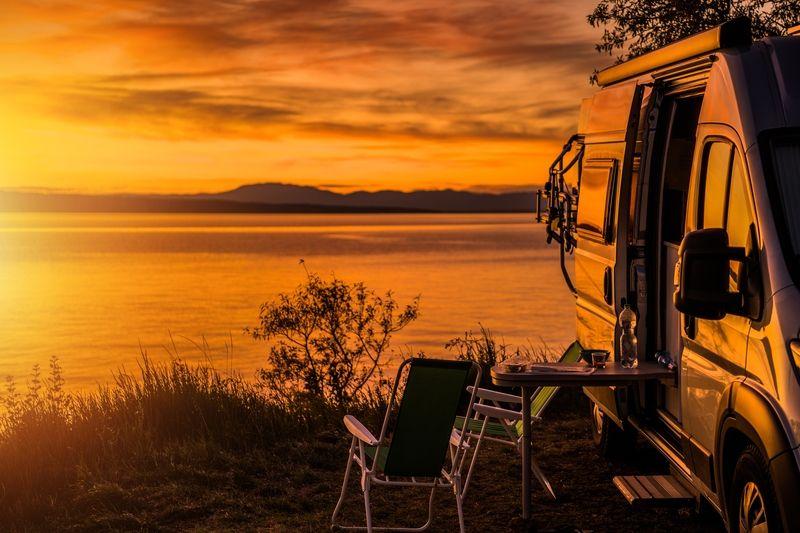 Campen an einem der schönsten Strände Dänemarks